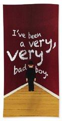 Bad Boy Greeting Card Bath Towel by Thomas Blood