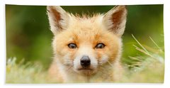 Bad Fur Day - Fox Cub Bath Towel