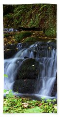 Hand Towel featuring the photograph Badger Fall by Baggieoldboy