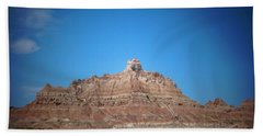 Bath Towel featuring the photograph Badlands Canyon by Heidi Hermes