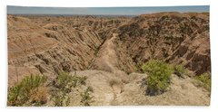 Hand Towel featuring the photograph Badlands National Park by Brenda Jacobs