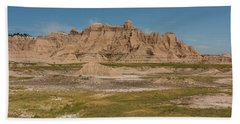 Bath Towel featuring the photograph Badlands National Park In South Dakota by Brenda Jacobs