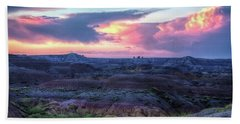 Badlands Sunrise Hand Towel by Fiskr Larsen