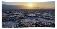 Badwater Basin Salt Flats Sunset Bath Towel