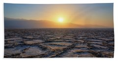 Badwater Basin Sunset  Bath Towel