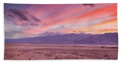Badwater Sunset Hand Towel