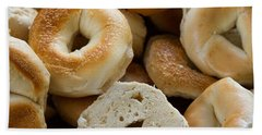 Bagels 1 Hand Towel by Michael Fryd
