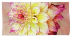 Hand Towel featuring the photograph Bahama Mama Dahlia Square by Mary Jo Allen