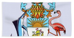 Hand Towel featuring the drawing Bahamas Coat Of Arms by Movie Poster Prints