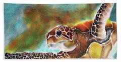 Bahamian Turtle Dove Hand Towel