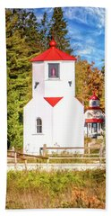 Baileys Harbor Range Light Hand Towel