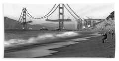 Baker Beach In Sf Hand Towel
