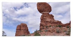 Hand Towel featuring the photograph Balance Rock Another View by Frank Madia