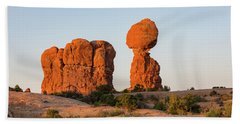 Balanced Rock In The Morning Hand Towel