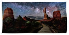 Balanced Rock Milky Way Bath Towel