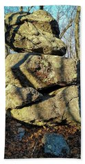 Bath Towel featuring the photograph Balanced Rocks by Bruce Carpenter