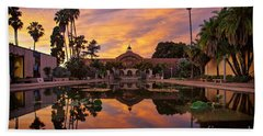 Balboa Park Botanical Building Sunset Bath Towel