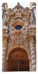 Bath Towel featuring the photograph Balboa Park Building Exterior Design by Jasna Gopic