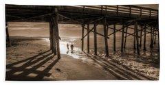 Balboa Pier Fishermen Hand Towel