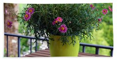 Bath Towel featuring the photograph Balcony Flowers by Susanne Van Hulst