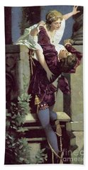 Balcony Scene, Romeo And Juliet Bath Towel