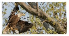 Bald Eagle Catch Of The Day  Bath Towel