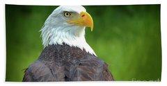 Bald Eagle Hand Towel by Franziskus Pfleghart