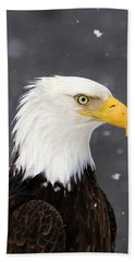 Bald Eagle Intensity Bath Towel
