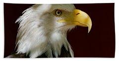 Bald Eagle - Majestic Portrait Hand Towel