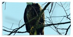 Bald Eagle Over The Root River Bath Towel