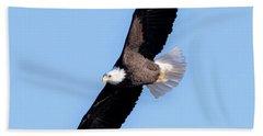Bald Eagle Overhead  Hand Towel by Ricky L Jones