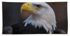 Hand Towel featuring the digital art Bald Eagle Painting by Chris Flees