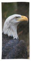 Bald Eagle Profile Hand Towel