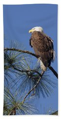 Bath Towel featuring the photograph Bald Eagle by Sally Weigand