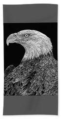 Bald Eagle Scratchboard Hand Towel
