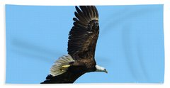 Hand Towel featuring the photograph Bald Eagle Series IIi by Deborah Benoit