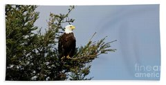 Bald Eagle - Taking A Break Bath Towel