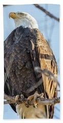 Bald Eagle Vertical Profile Bath Towel