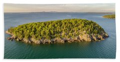 Bald Pocupine Island, Bar Harbor Hand Towel