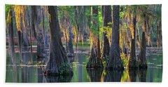 Baldcypress Trees, Louisiana Hand Towel