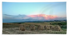 Bales And Sunset Hand Towel