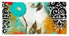 Bali I Abstract Collage Painting Hand Towel