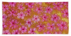 Balinese Flowers Hand Towel by Cassandra Buckley