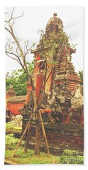Hand Towel featuring the photograph Balinese Temple Gates by Cassandra Buckley