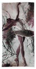 Ballerina Dance Painting 0032 Bath Towel by Gull G