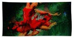 Ballerina Girl -  Love Is Seduction  Bath Towel by Sir Josef - Social Critic -  Maha Art