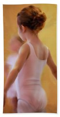 Ballerina In Pink Bath Towel by Colleen Taylor