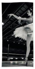 Bath Towel featuring the photograph Ballerina In The White Tutu by Dimitar Hristov