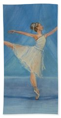 Ballet Blues Hand Towel by Kelly Mills