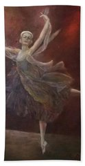 Ballet Dancer Anna Pavlova Bath Towel